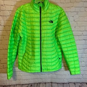 The North Face Thermoball green puffer, M